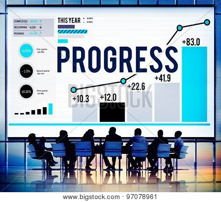 Progress Strategy Success Motivate Development Growth Concept