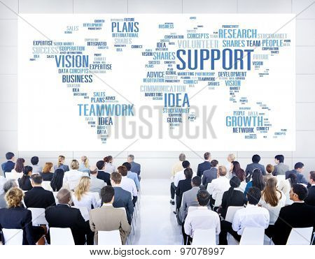 Global Business People Conference Seminar Support Concept