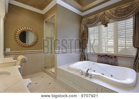 Master Bath In Elegant Home