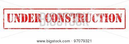 Under Construction - Rubber Stamp