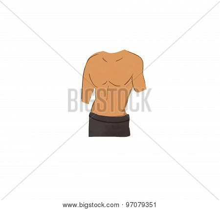 male torso illustration