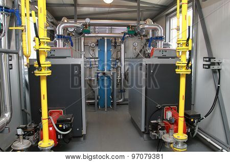 Two Boilers In A Modern Boiler-house