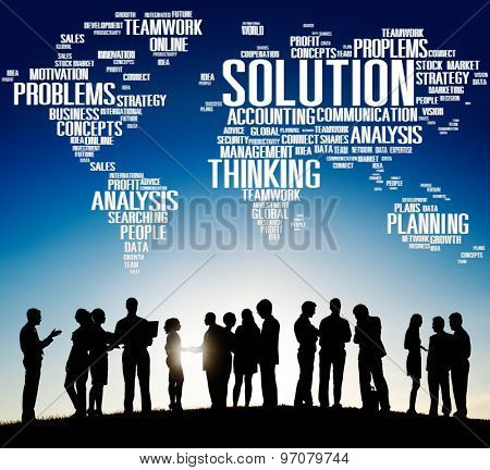 Solution Success Solved Decision Strategic Progress Concept