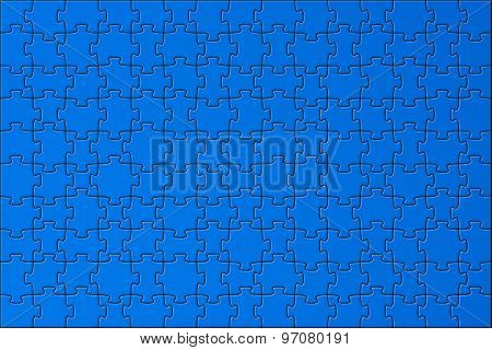 Background Of The Azure Sky With Puzzles