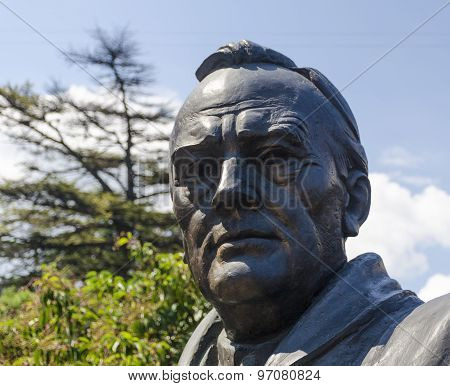 Yalta, RUSSIA - July 3: Opening of the monument in honor of the 70th anniversary of the Yalta Confer