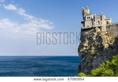 The well-known castle Swallow's Nest near Yalta. Crimea, Russia