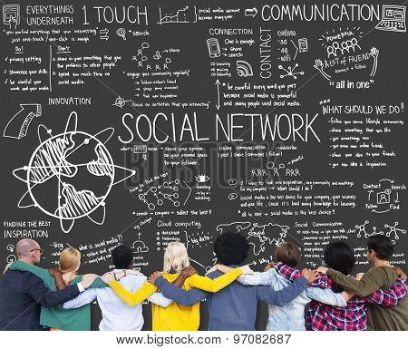 Social Network Media Technology Board Concept