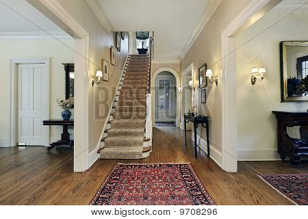 Foyer In Suburban Home