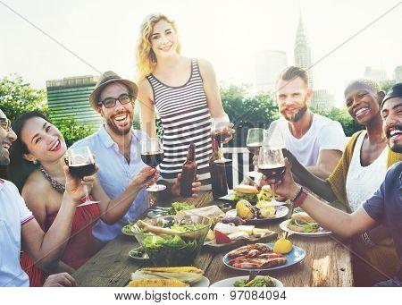 Celebration Friendship Rooftop Party Concept