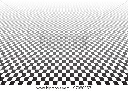Tiled textured surface. Abstract geometric checked background. Vector art.