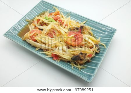Papaya salad, Thai spicy food
