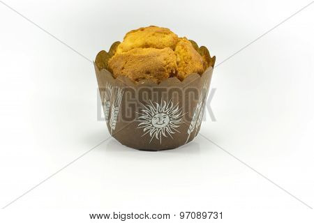 Plain Muffin Isolated On White Background