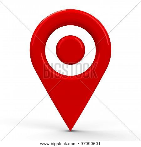 Red Map Pointer Dot