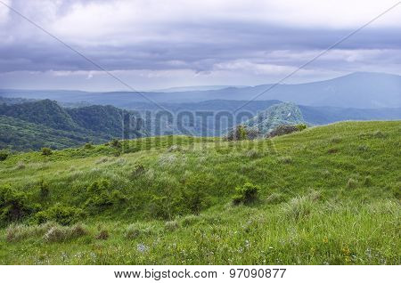 greem hills and mountains