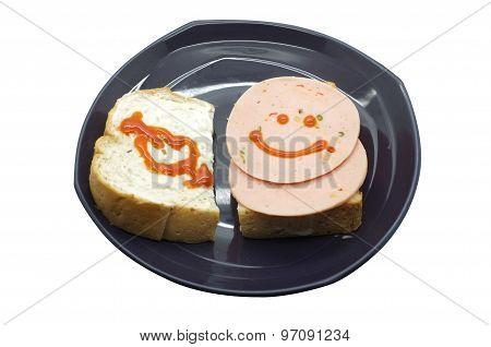 Sandwich with pork ham