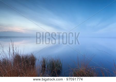 Mist And Cloudscape On Wild Lake