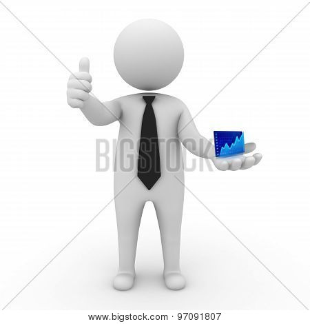 3d businessman people -  Finance and Stock Exchange