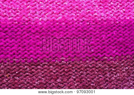 Close Up Of Pink Woolen Texture - Textile Background