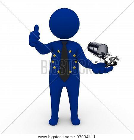 3d businessman people  EC - oil business EC