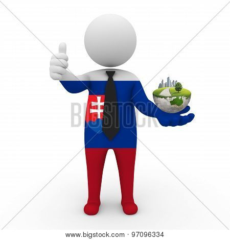 3d businessman people  Slovakia - Environment and construction Slovakia