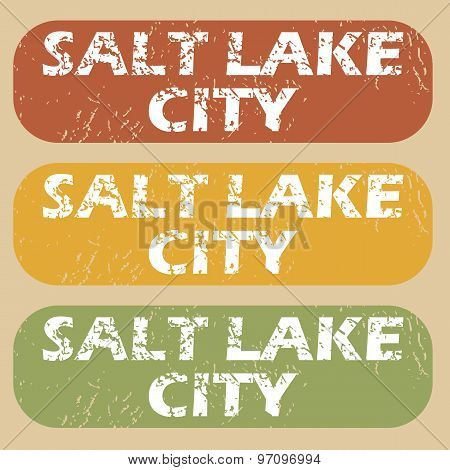 Vintage Salt Lake City stamps