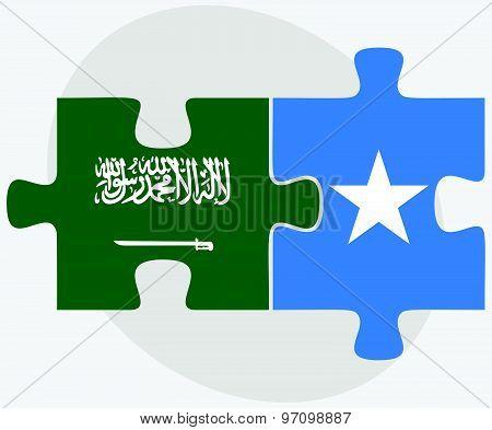 Saudi Arabia And Somalia Flags