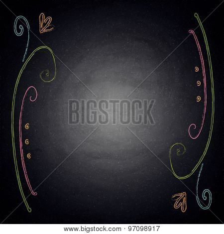 Chalkboard Background With Ornate Elements
