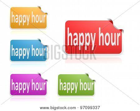 Label Set Happy Hour