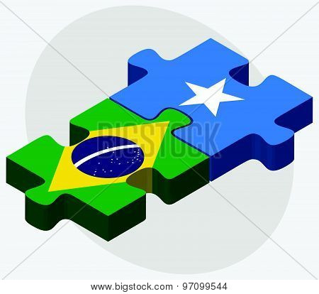 Brazil And Somalia Flags