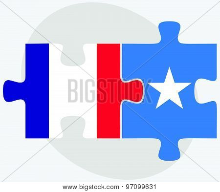 France And Somalia Flags