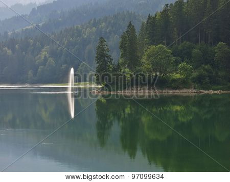 Spout On Lake Obersee
