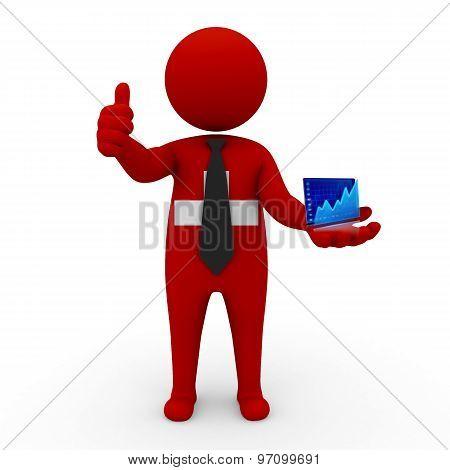 3d businessman people Switzerland- Stock Exchange of Switzerland