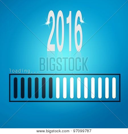 Blue Loading Bar Year 2016