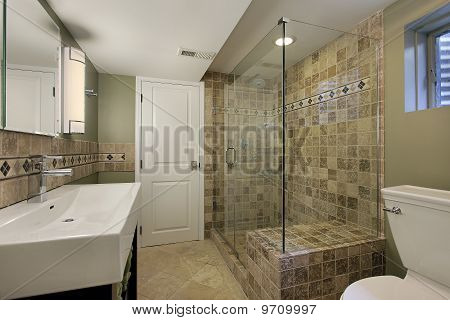 Glas-Duschbad