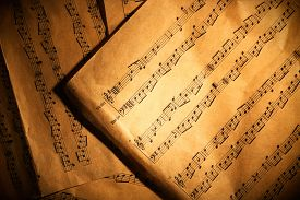 picture of musical scale  - Music notes background - JPG