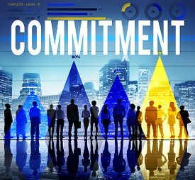 stock photo of promises  - Commitment Promise Responsibility Loyalty Trust Concept - JPG