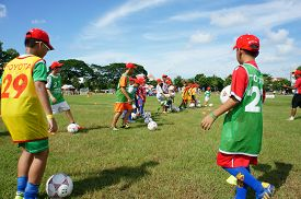 stock photo of physical education  - CAN THO VIET NAM - JPG