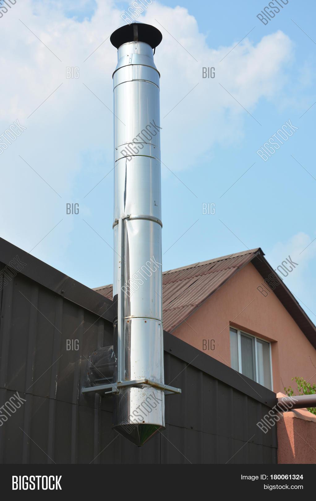 stainless steel chimney close on image u0026 photo bigstock