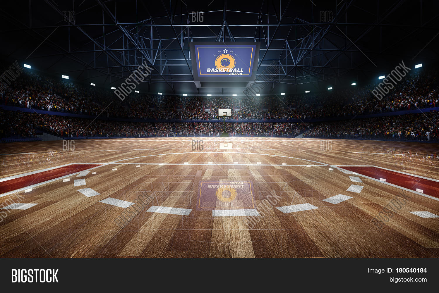 Professional basketball court arena image photo bigstock for How wide is a basketball court