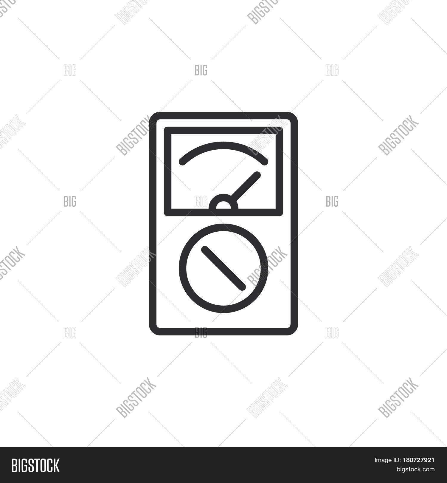 Analog multimeter line icon vector photo bigstock analog multimeter line icon outline vector sign linear style pictogram isolated on white symbol logo buycottarizona