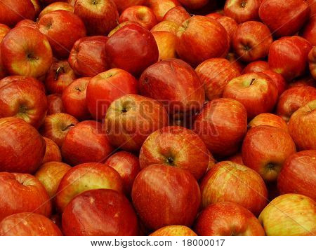 Many red apple fresh