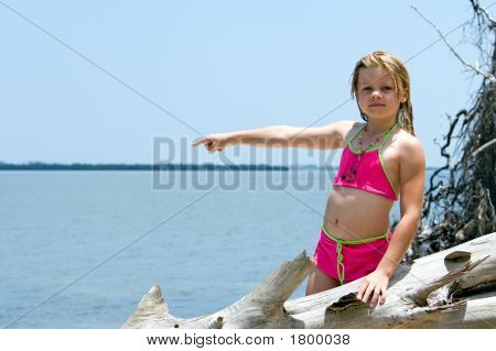 Pointing At Water