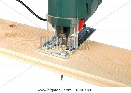 Serra elétrica quebra de placa de madeira