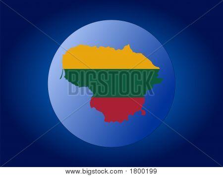 Lithuania Globe