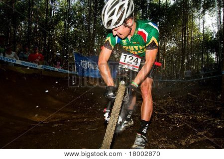 Uci Mtb World Cup Rider Inflating Tyre