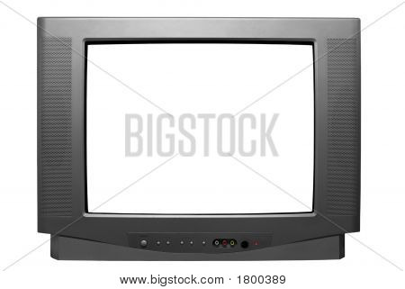 Isolated Television (With Clipping Path)