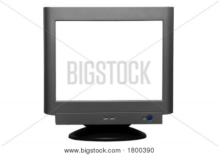 Isolated Crt Monitor (With Clipping Path)