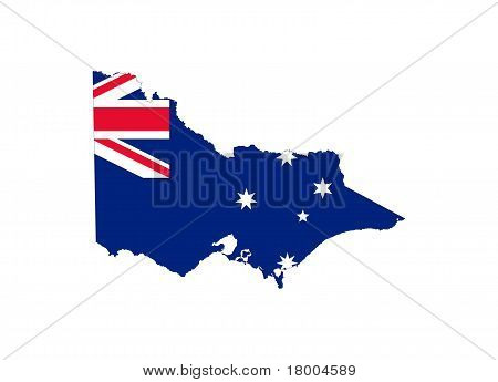 Victoria State Flag And Map