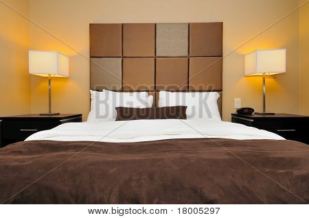 Front View Of Big Bed