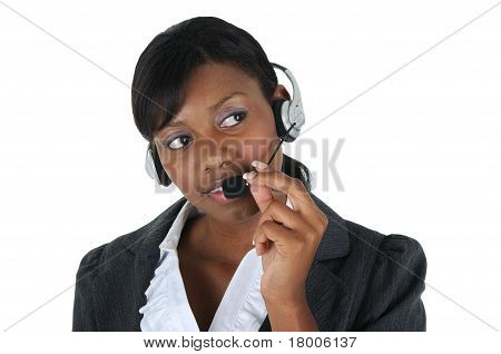 Attractive Business Woman With Headset 08